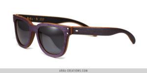 Lunettes de soleil en bois violet