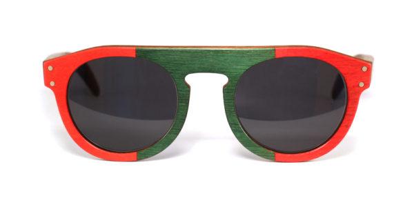 Lunettes en bois Rouge et Vert