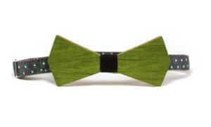 Nœud Papillon pour Homme en Bois Vert