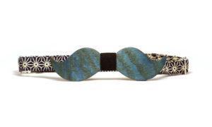 Nœud Papillon Moustache Bleu
