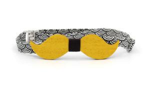 Nœud Papillon Moustache Jaune