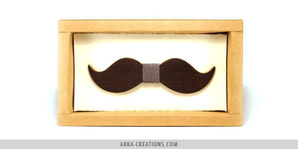 Nœud Papillon Moustache Foncé